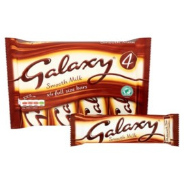Galaxy Chocolate Bar 4 Pack 168g