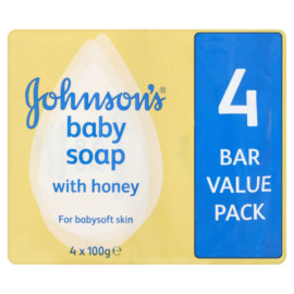 Johnsons Baby Soap 4 Bar Value Pack