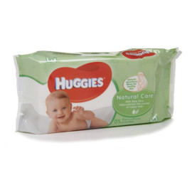 Huggies Wipes Natural care Aloe and Vitamin E x 56