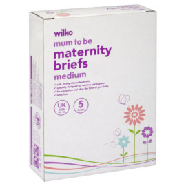 Wilko Mum to Be Maternity Briefs Medium 5 Briefs