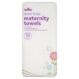 Wilko Mum to Be Maternity Towels 10 Pads