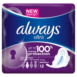 Always Ultra Towels Long Wings X12