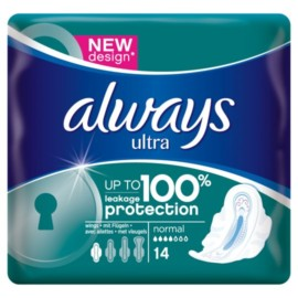 Always Ultra Towels Normal Wings X14