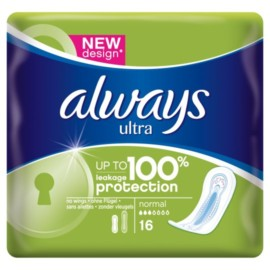 Always Ultra Towels Normal X16