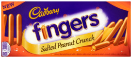 Cadbury Salted Peanut Biscuit Fingers 93g