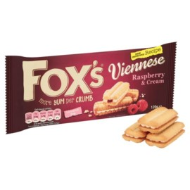 Fox's Raspberry And Cream Viennese Melts 120G