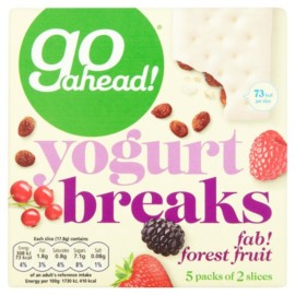 Go Ahead Forest Fruit Yoghurt Breaks Bars 5 Pack 177G