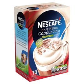 Nescafe Decaffeinated Cappuccino Unsweetened Coffee 10 Sachet 150G