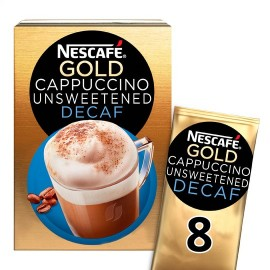 Nescafe Gold Cappuccino Decaffeinated Unsweetened 8 Sachets 120G