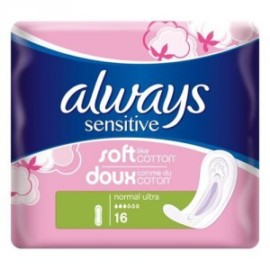 Always Sensitive Normal Ultra Pack of 16