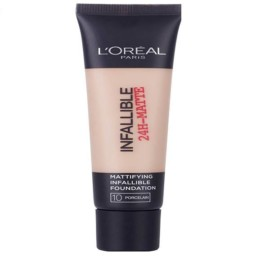 L'Oreal 24H-Matte Waterproof Foundation 10 Porcelain 35ml