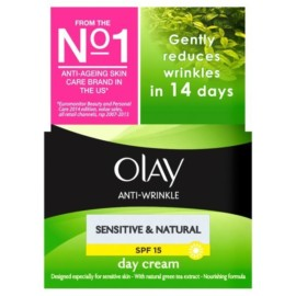 Olay Anti-Wrinkle Sensitive & Natural Day Cream SPF15 50ml