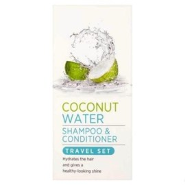 Superdrug Coconut Water Hydrating Shampoo & Conditioner Travel Set 2 x 50ml