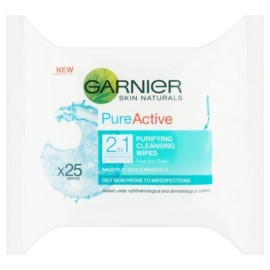 Garnier Pure Active 2-in-1  25 Wipes