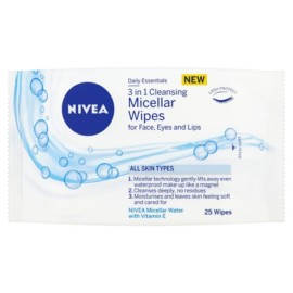 Nivea 3 in 1 Cleansing Micellar Face Wipes 25's