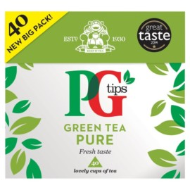 PG tips Pure Green Tea 40 per pack