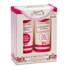 NEW PATISSERIE DE BAIN CRANBERRIES & CREAM BATH & BODY COLLECTION DUO 2 X 200 ML