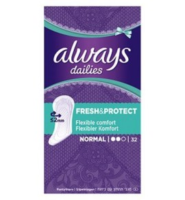 Always Dailies Fresh & Protect Normal 32 Pantyliners
