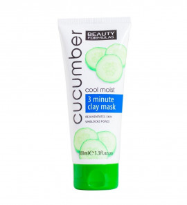 Beauty Formulas Cucumber Cool Moist 3 Minute Clay Mask 100ml