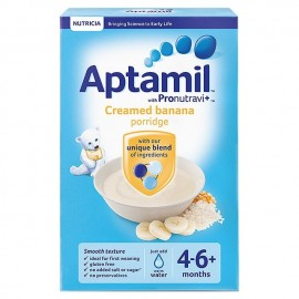 Aptamil with Pronutravit+ Creamed Banana Porridge 4-6+ Months 125g