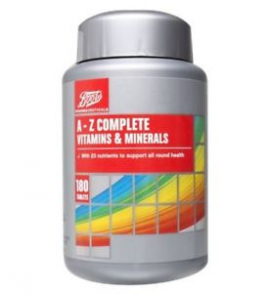 Boots A-Z Complete Vitamins & Minerals 180 Tablets