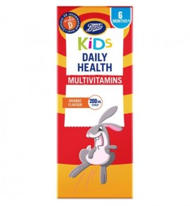 Boots Kids Daily Health Multivitamins Orange Flavour Syrup 200ml
