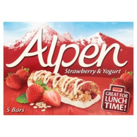 Alpen Strawberry With Yoghurt Cereal Bar 5X29g