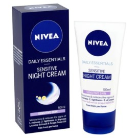 Nivea Sensitive Night Cream Tube 50Ml