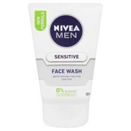 Nivea For Men Sensitive Face Wash 100Ml