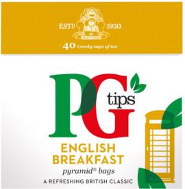 PG Tips English Breakfast Tea Bags 40'S 100G