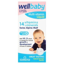 Vitabiotics Wellbaby Natural Orange Flavour Syrup 150ml