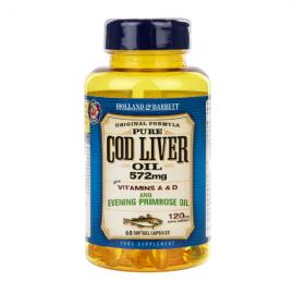 Holland & Barrett Cod Liver Oil with Evening Primrose 572mg 60 Capsules