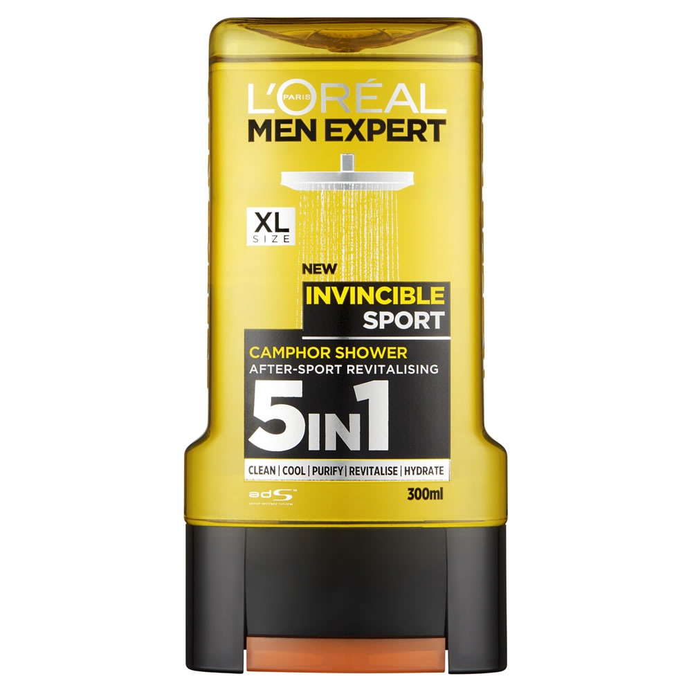 Loreal Men Expert Invincible Sport Shower Gel 300ml Uk Direct Palmolive Showergel Sensual 450ml
