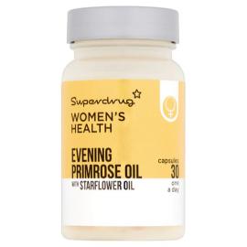 Superdrug Evening Primrose Oil & Starflower Capsules x30