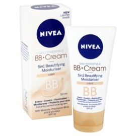 Nivea BB Cream 5 in 1 Beautifying Moisturiser Light 50ml