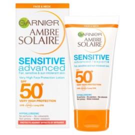 Garnier Ambre Solaire SPF 50+ Sensitive Face & Neck Sun Cream 50ml