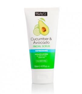 Beauty Formulas Cucumber & Avocado Refreshing Facial Scrub 150ml