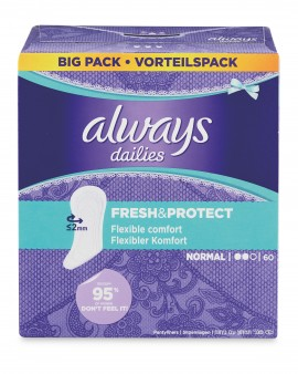 Always Dailies Fresh And Prot Normal Panty Liners 60