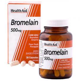 HealthAid Bromelain – Digestion – 500mg x 30 Vegicaps