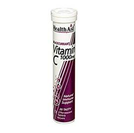 HealthAid Blackcurrant Vitamin C – 20 x 1000mg Effervescent Tablets