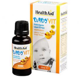 HealthAid BabyVit – Multivitamin Liquid Drops – 25ml Drops