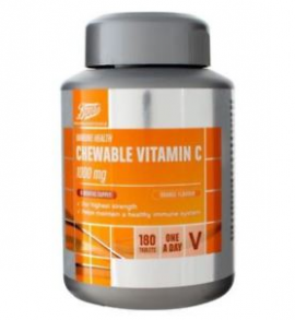 Boots Chewable Vitamin C 1000mg Orange Flavour 180 Tablets