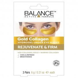 BALANCE ACTIVE FORMULA Gold Collagen Hydrogel Under Eye Mask 3 x 6g