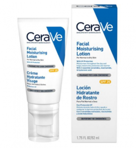 CeraVe AM Cream Facial Moisturiser SPF25 52ml