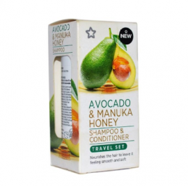 Avocado and Manuka Honey Shampoo Conditioner Set Travel Size