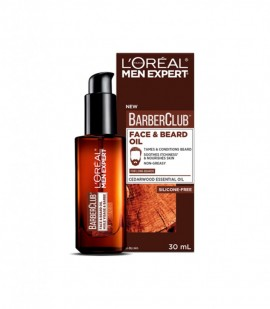 L'OREAL MEN EXPERT BARBER CLUB SHORT BEARD MOISTURISER CEDARWOOD OIL 30ML