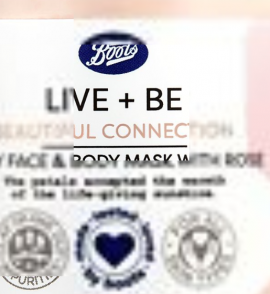 Boots Live + Be Beautiful Connection Boots Beautiful Connection Face & Body Mask