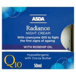 ASDA Q10 Radiance Night Cream 50ml