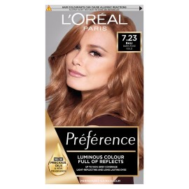 Loreal Preference 7.23 Rose Gold Blonde Permanent Hair Dye