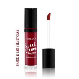 Jordana Sweet Cream Matte Liquid Lip Color – Red Velvet Cake